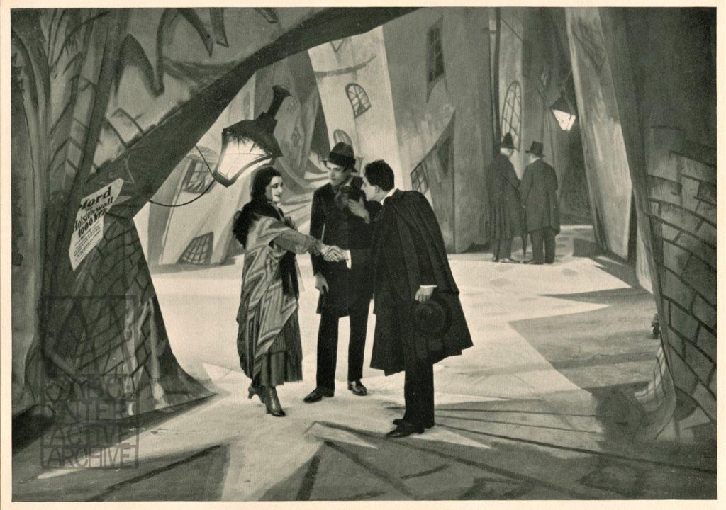 178 Robert Weine, Das Kabinet of Dr. Caligari, 1919. gcolcard, Deutcher Filmkunst