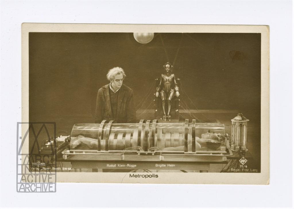 328l Fritz Lang, Metropolis, 1927. gpc cardset