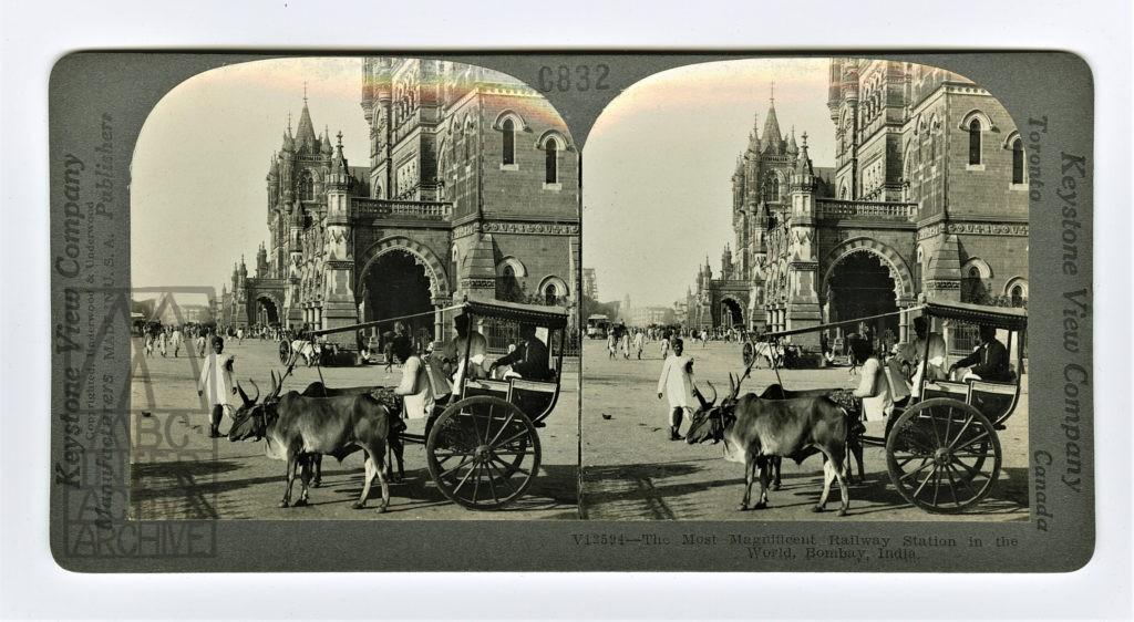 6 Phillip Johnson Train Arriving at Bombay Station, 1889.
