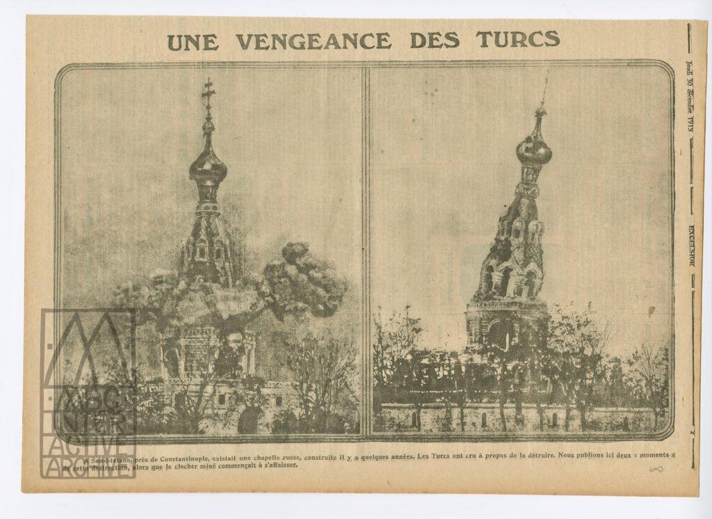 8 Tur Fuat Uzkinay, Demolition of the Russian Monument at San Estefano, Turkey, 1914.