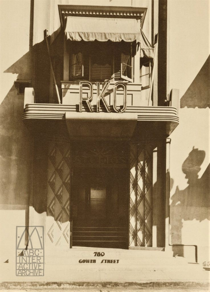 3 RKO Studios, 780 Gower St. 1934, USpc