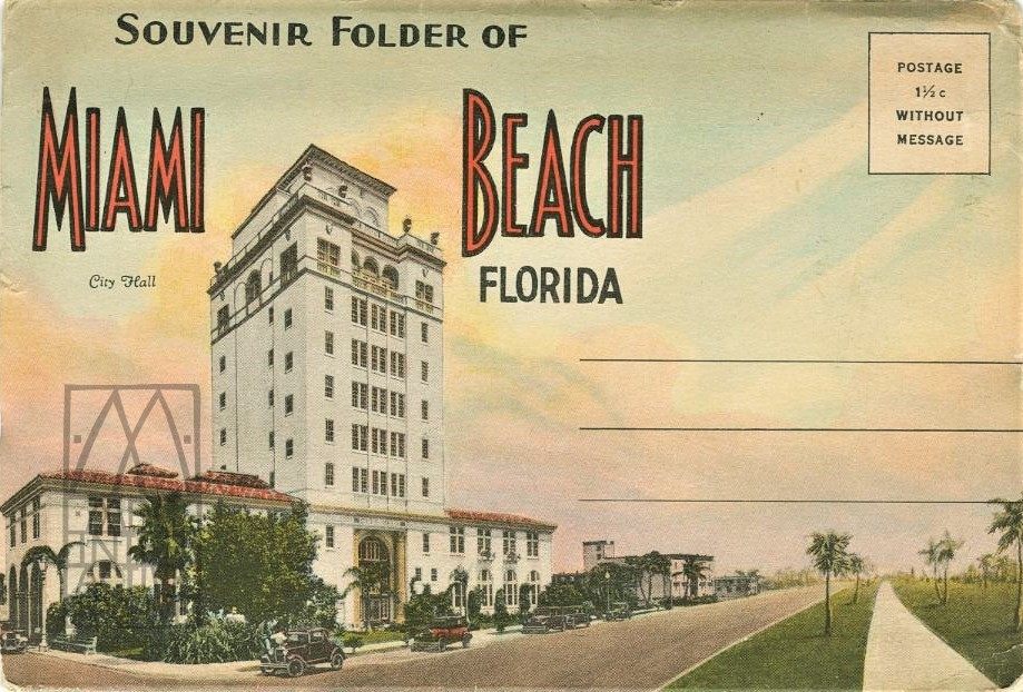 1d Welcome to Miami Beach, circa 1930. USpcset