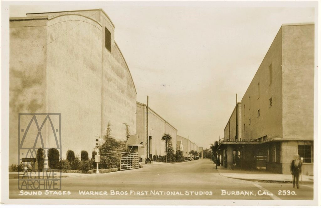 4 Warner Brothers Sound Stages, First National Stdios, Burbank CA, 1930s. USpc
