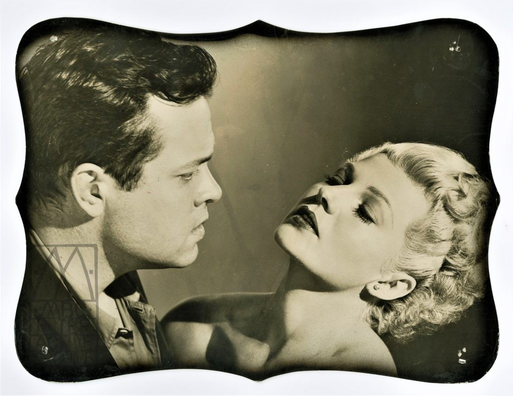 2 Orson Welles, Rita Hayworth, Lady From Shanghai, 1948. Arstill diecut