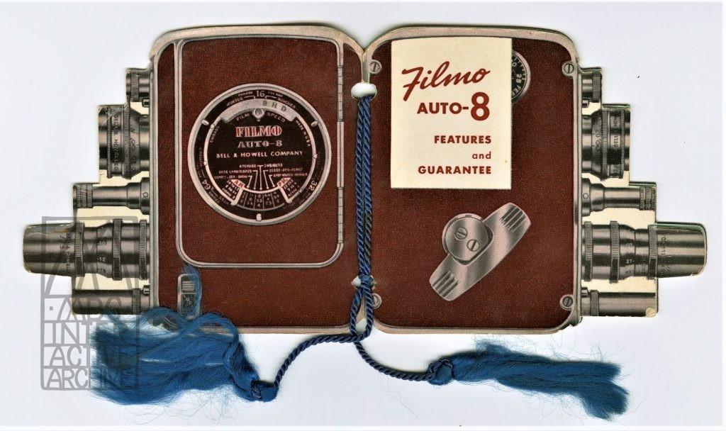 1b Bell and Howell Filmo Auto-8 8mm camera, 1948. USbrochure diecut