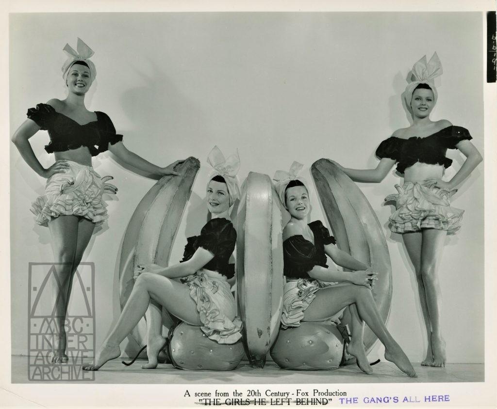 2 Faye-Grable-Miranda, The Gang_s All Here, 1943. USstill