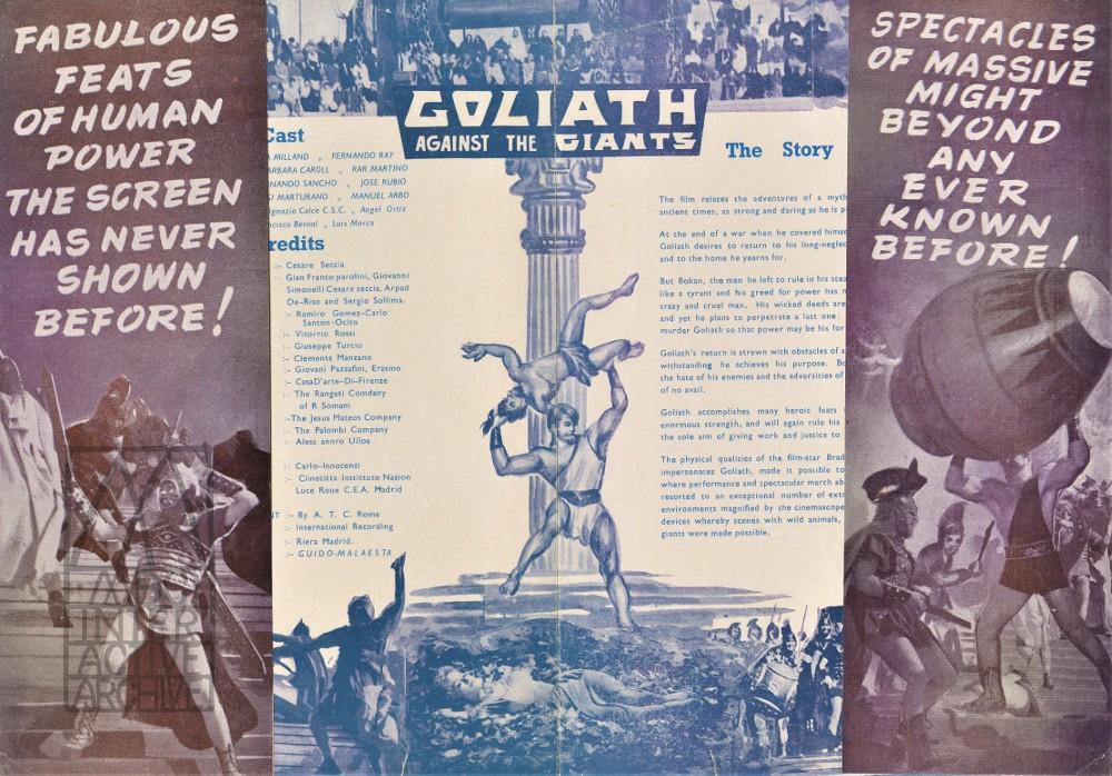 2 Guido Malatesta, Goliath contro i giganti - Goliath Against the Giants, 1961. USh