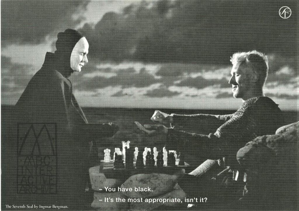 2 Ingmar Bergman, The Seventh Seal, 1957. Svensk Filmindustri screenings in Cannes. Fcpc