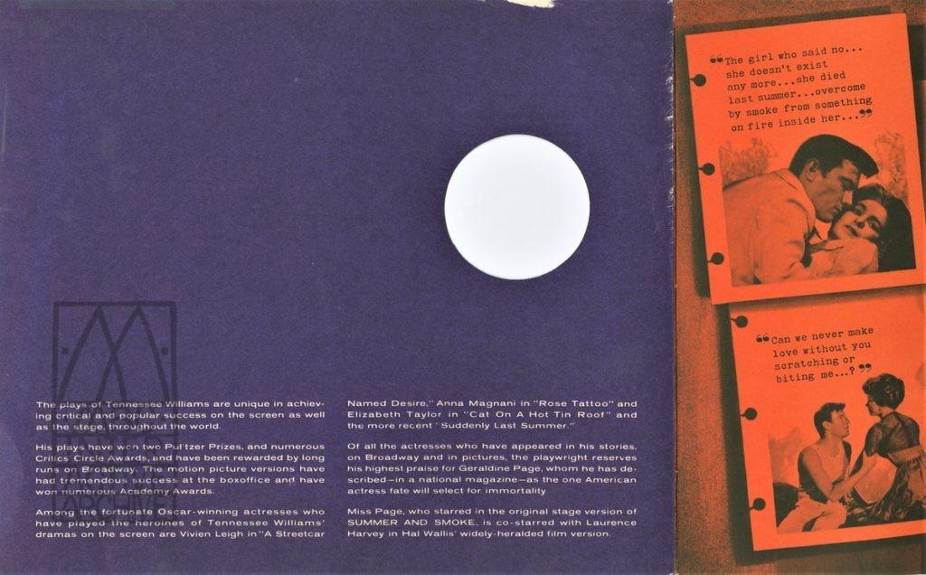 438b Daniel Mann, Summer and Smoke, 1961 USdiecut