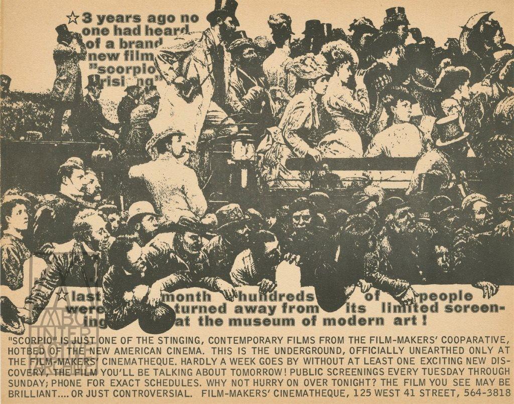 2 Kenneth Anger, Scorpio Rising, 1963. Filmmaker_s Cinematheque, New York. USposter
