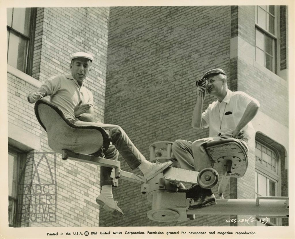 2 Robert Wise and Jerome Robbins directing West Side Story, 1961. USstill
