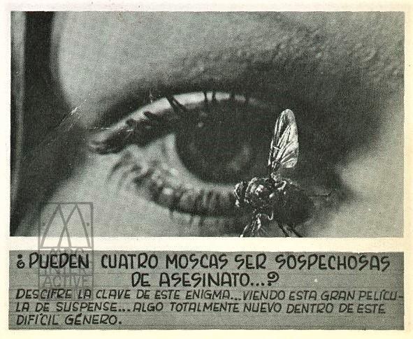 628d-2 Dario Argento, Quatro mosche di velluto grigio - Four Flies on Grey Velvet, 1971. spb