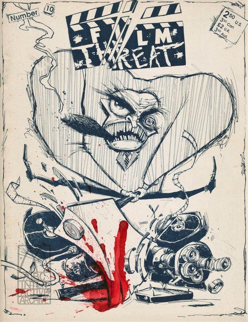 1b Film Threat, No. 10, 1986. USmag Published by Christian Gore, Royal Oak, MI. Design - Glenn L. Barr