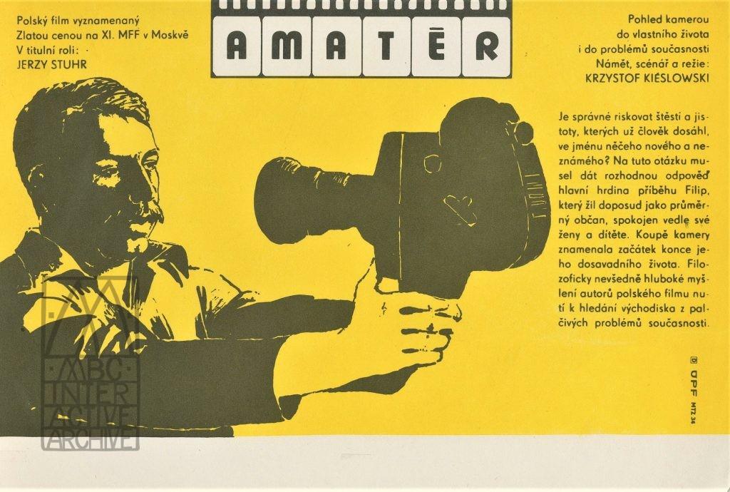 189 Krzysztof Kieslowski, Amator - Camera Buff, 1979. CzA1 Design - anomn